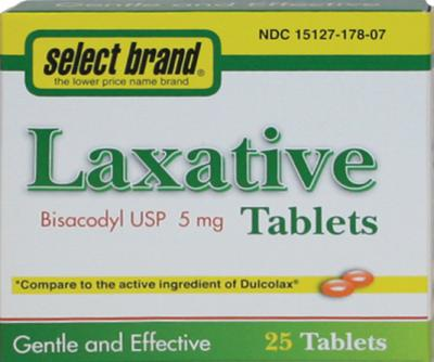 5 mg 25 ct laxative