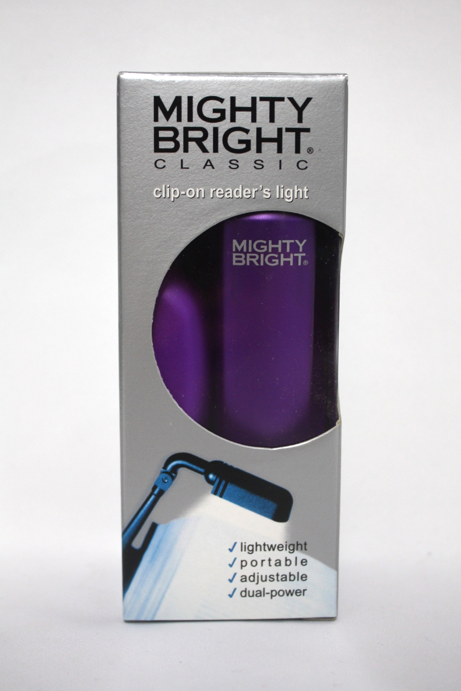 booklight clip on reader s light purple federal correctional